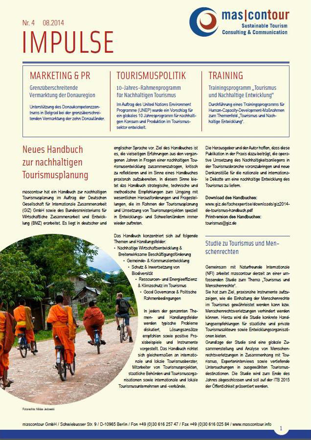 Newsletter Impulse 08.2014 Deutsch